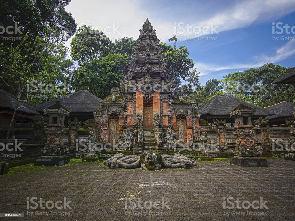 Monkey Forest Temple in Ubud, Bali stock photo