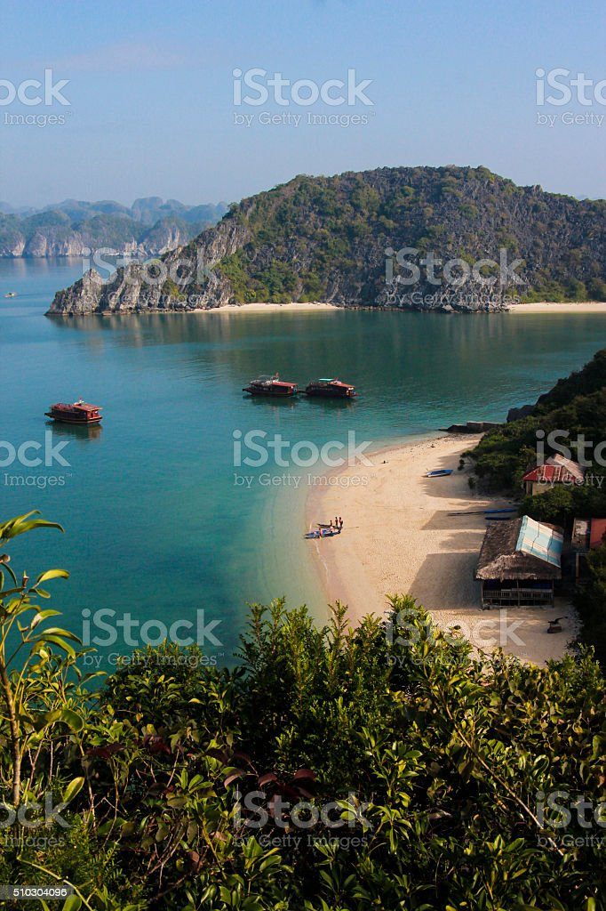 Monkey Island on a sunny day stock photo