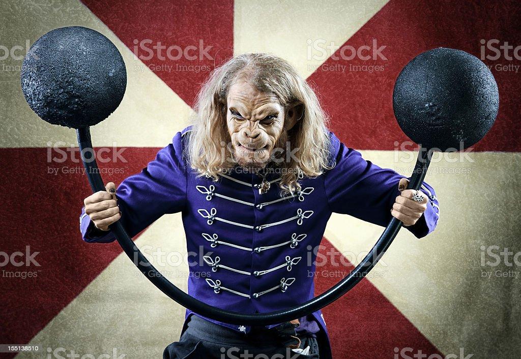 Monkey Man Circus Performer royalty-free stock photo