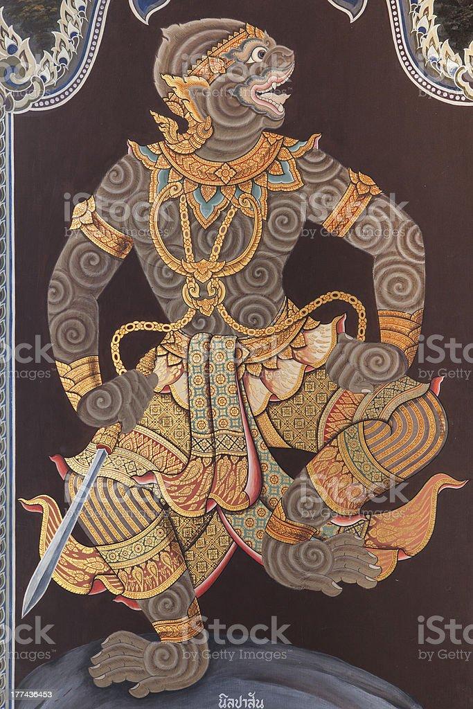 Monkey of Ramayana royalty-free stock photo