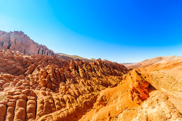 Monkey Rocks by Dades gorge in Morocco stock photo