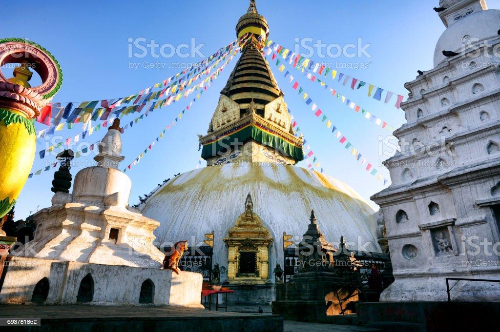 Monkey Tempel, Nepal stock photo