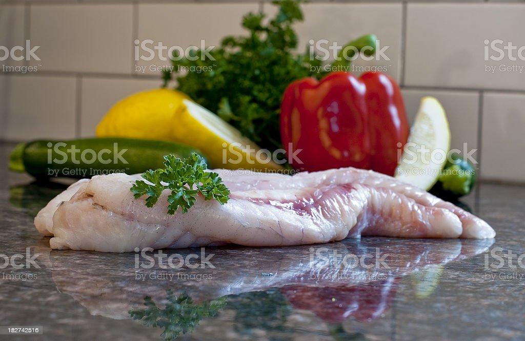Monkfish fillets royalty-free stock photo