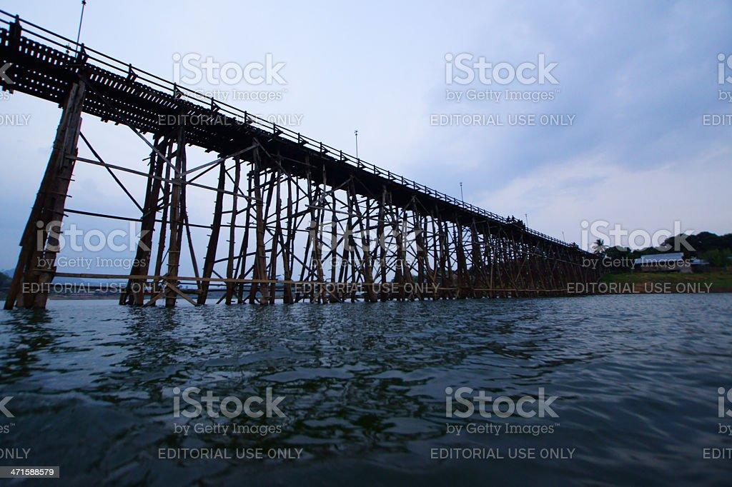 Mon-khmer bridge royalty-free stock photo