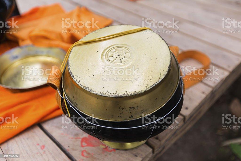 Monk's alms-bowl. royalty-free stock photo