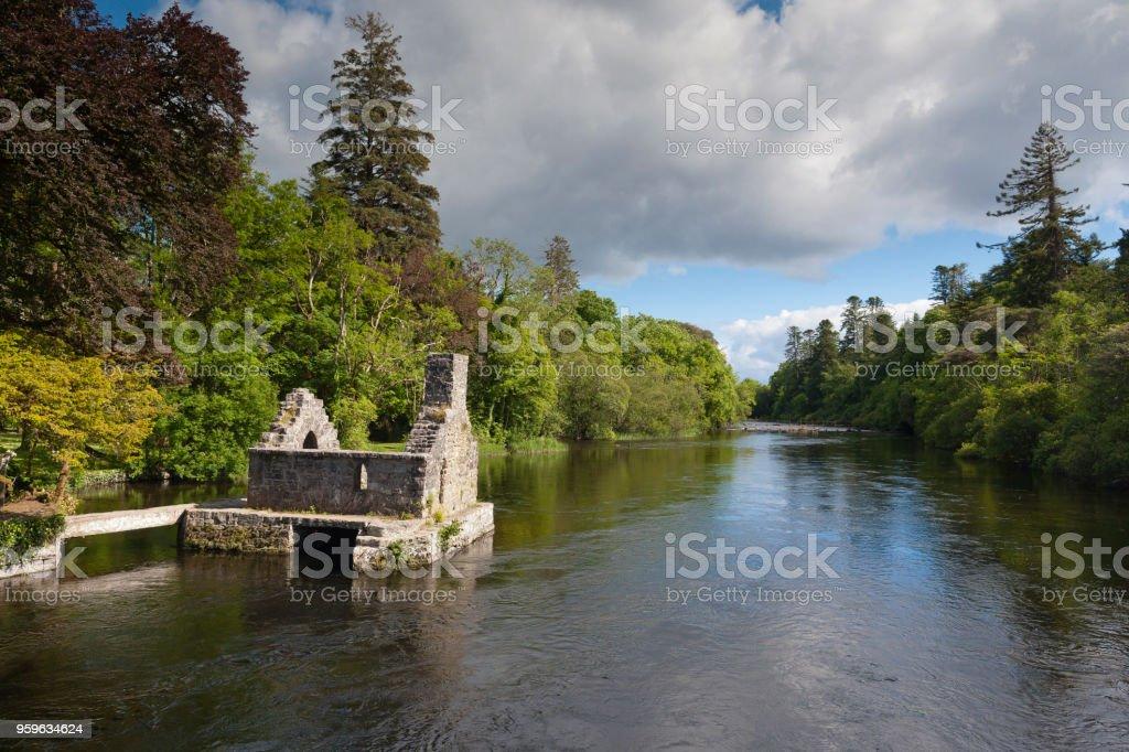 Monk's Fishing House, Cong Village, County Mayo, Ireland stock photo
