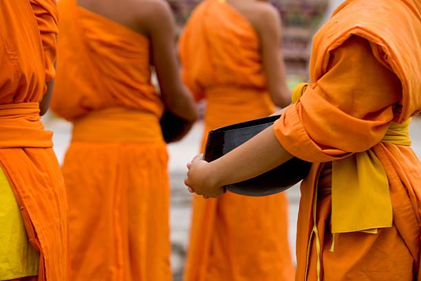 Mönche In einer Linie – Foto