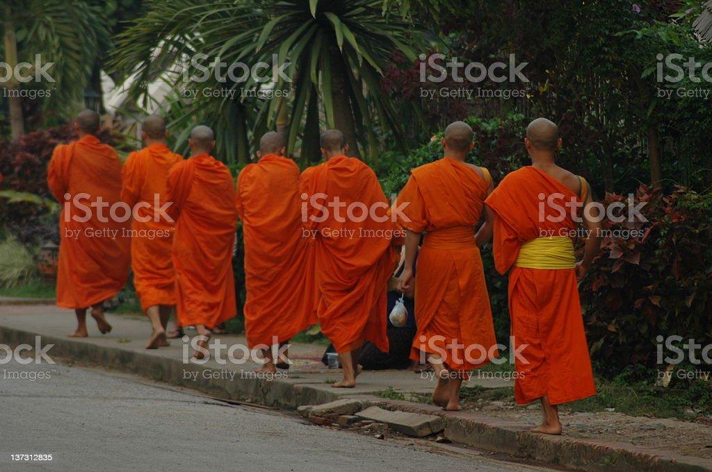 Monks royalty-free stock photo