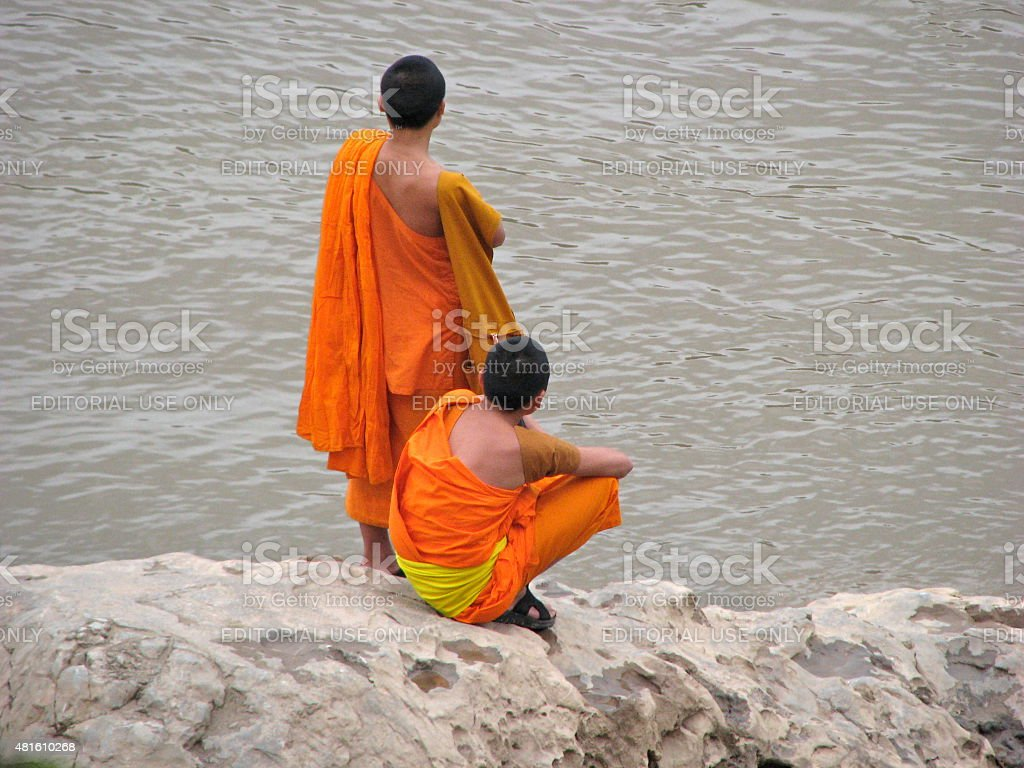 Monks stock photo