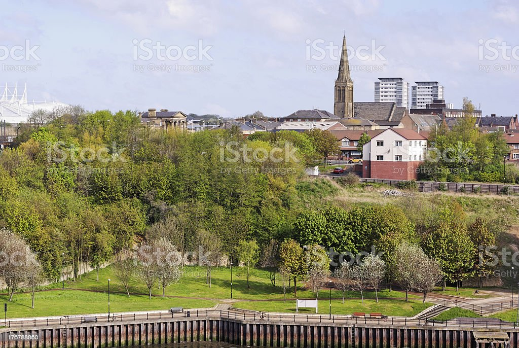 Monkwearmouth in Sunderland stock photo