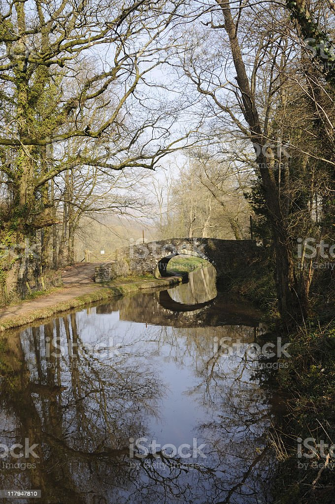 Monmouthshire and Brecon Canal stock photo