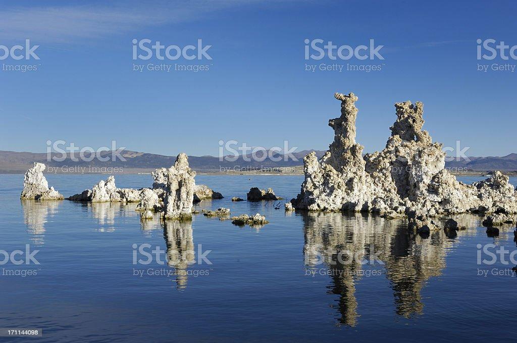 Mono Lake and Tufa Formations stock photo