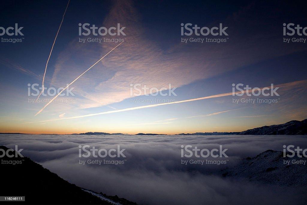 Mono Lake Before Sunrise stock photo