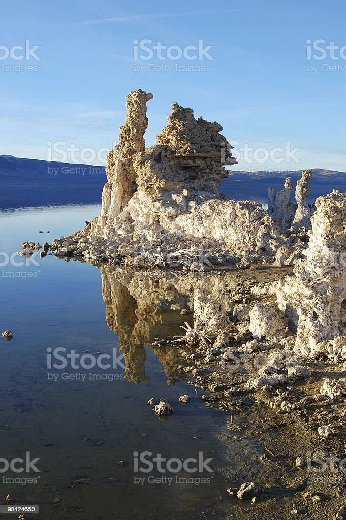 Mono Lake, California, Tufa Formation royalty-free stock photo