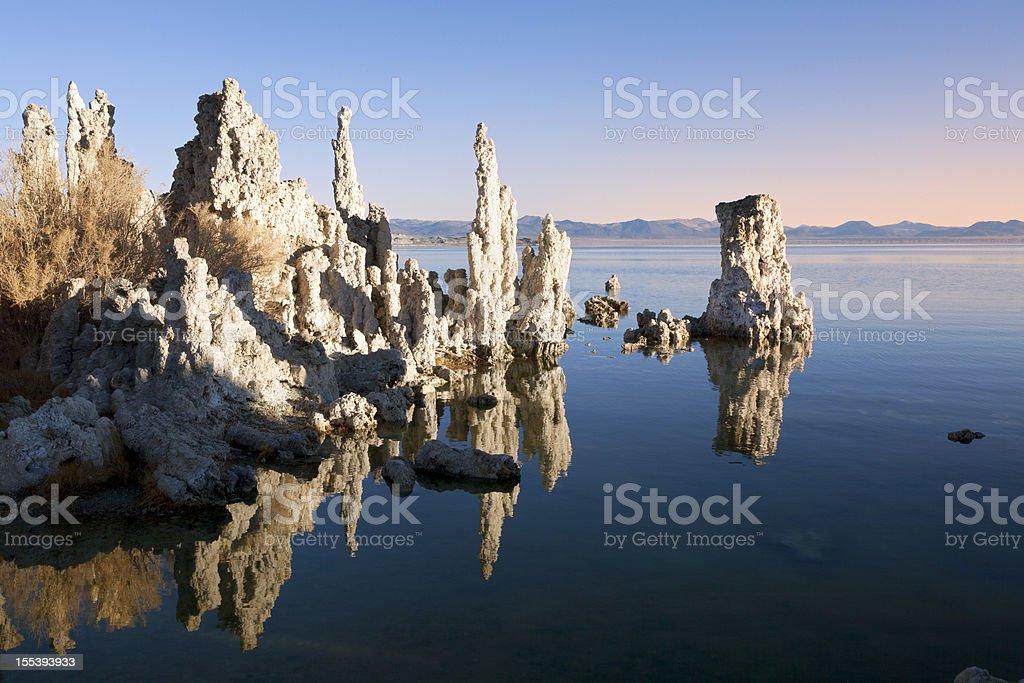 Mono Lake in first light stock photo