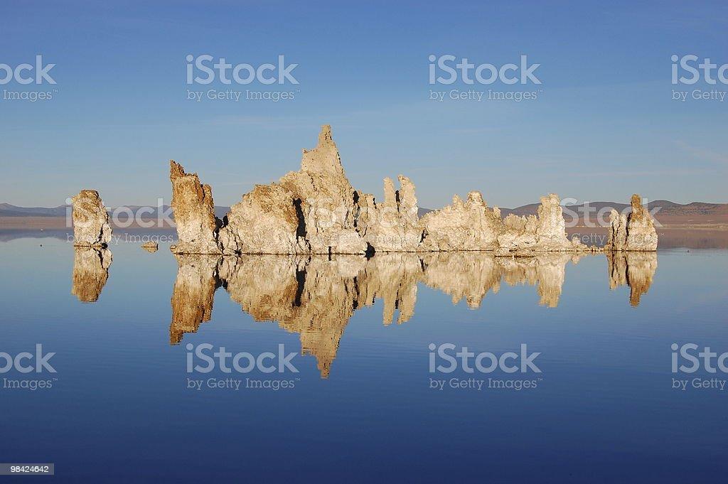 Mono Lake Mirror stock photo