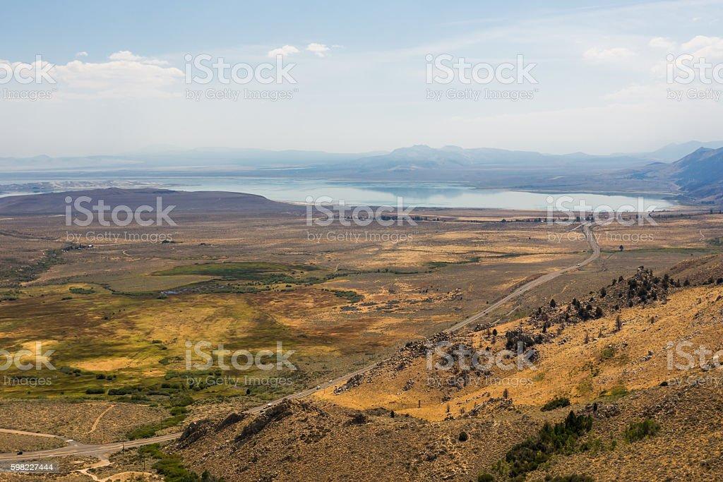 Mono lake overlook foto royalty-free