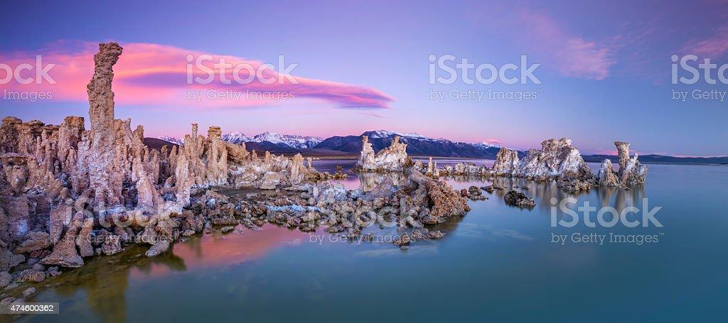 Mono Lake Panorama stock photo