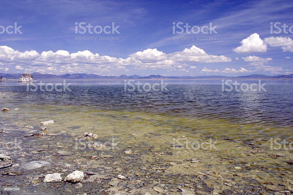 Mono Lake Perspective stock photo