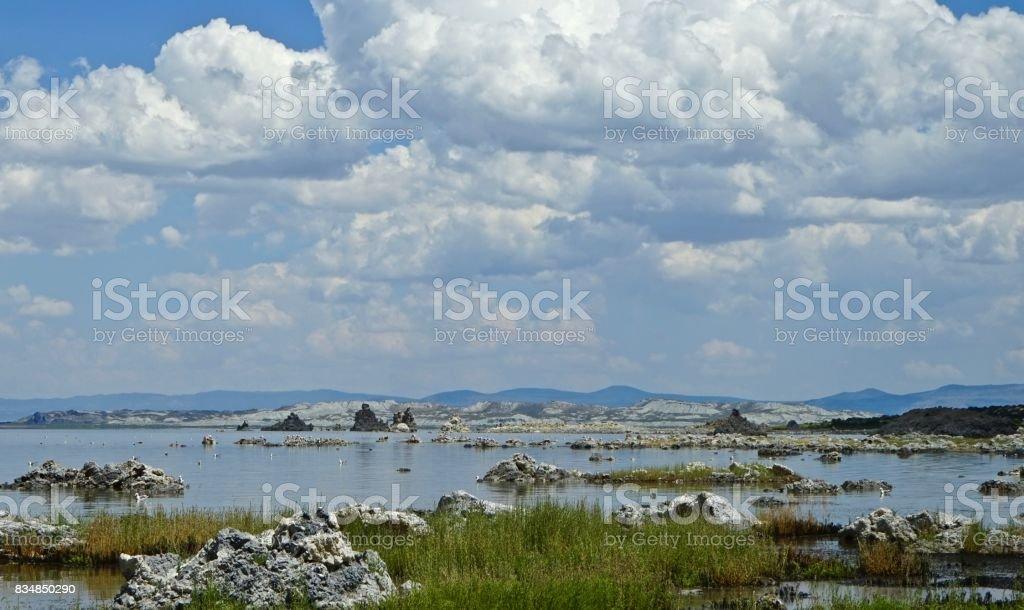 Mono Lake Tufa Realm stock photo