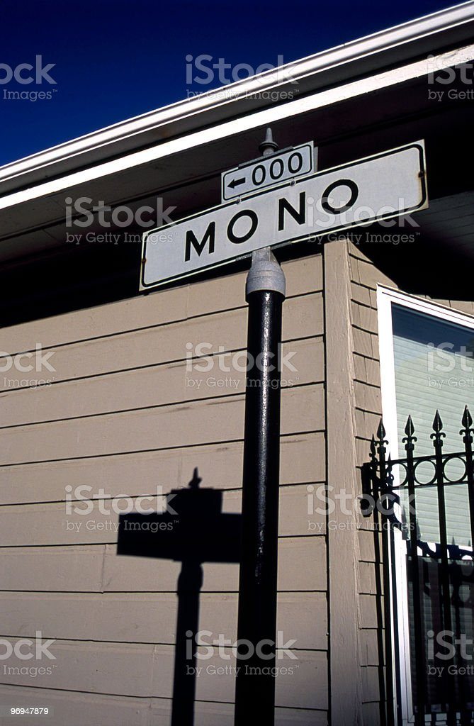 Mono St, San Francisco, CA royalty-free stock photo