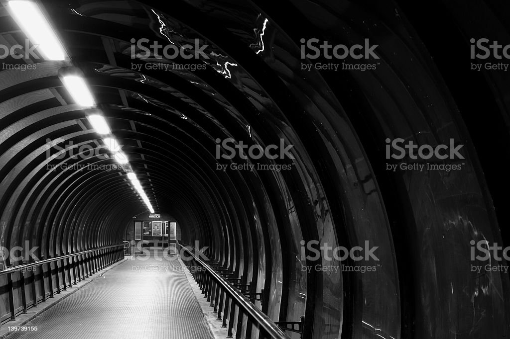 Mono Tunnel royalty-free stock photo