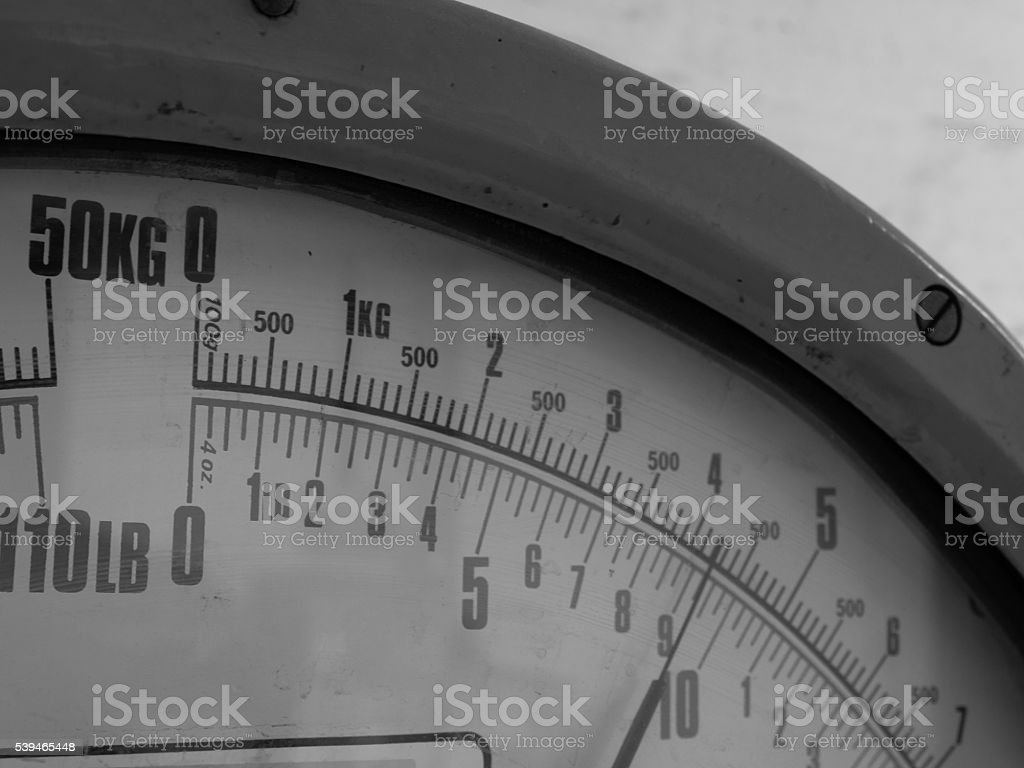 Mono Weighing Scales - Industrial Shipping stock photo