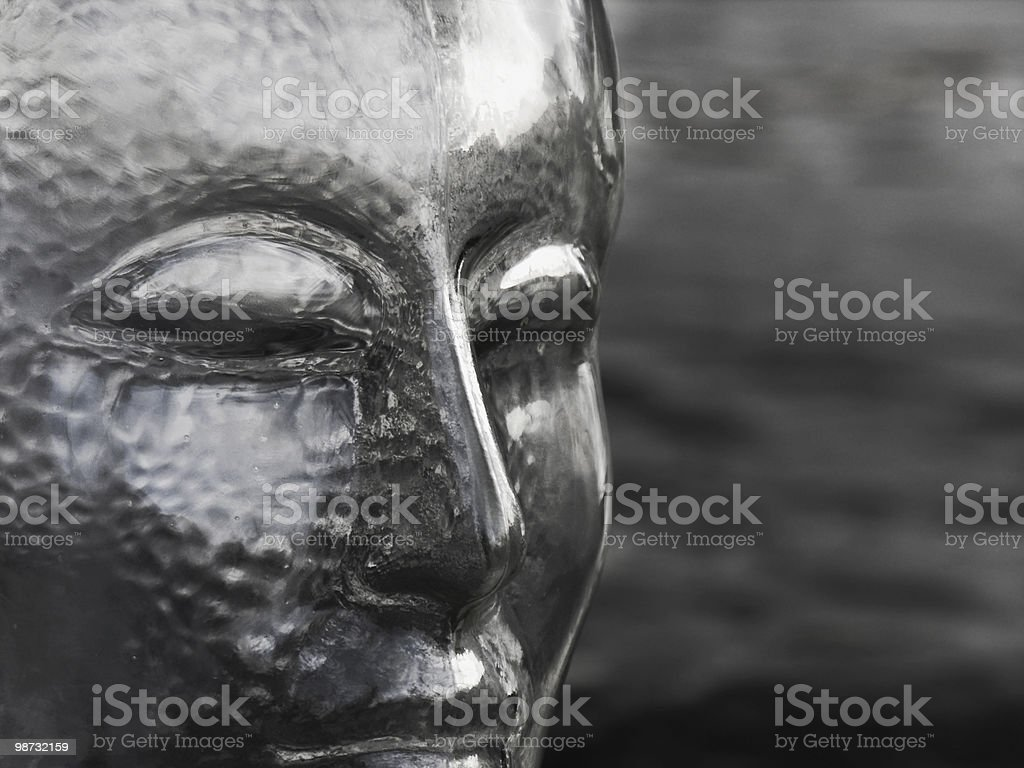 B&W; Monochromatic glass head royalty-free stock photo