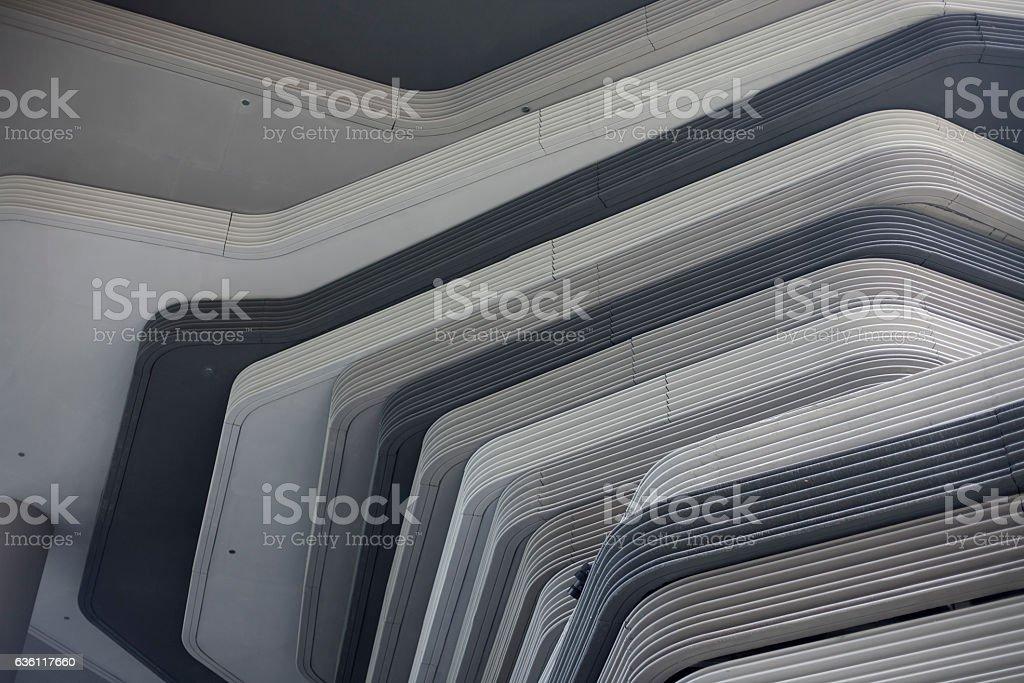 Monochrome background with concrete architectural structure stock photo