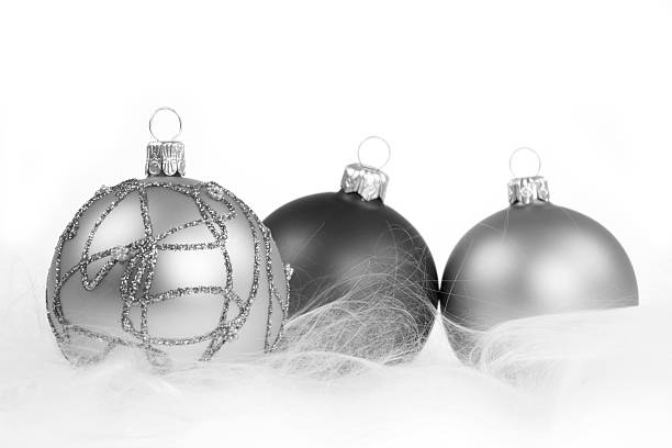 Monochrome Baubles stock photo