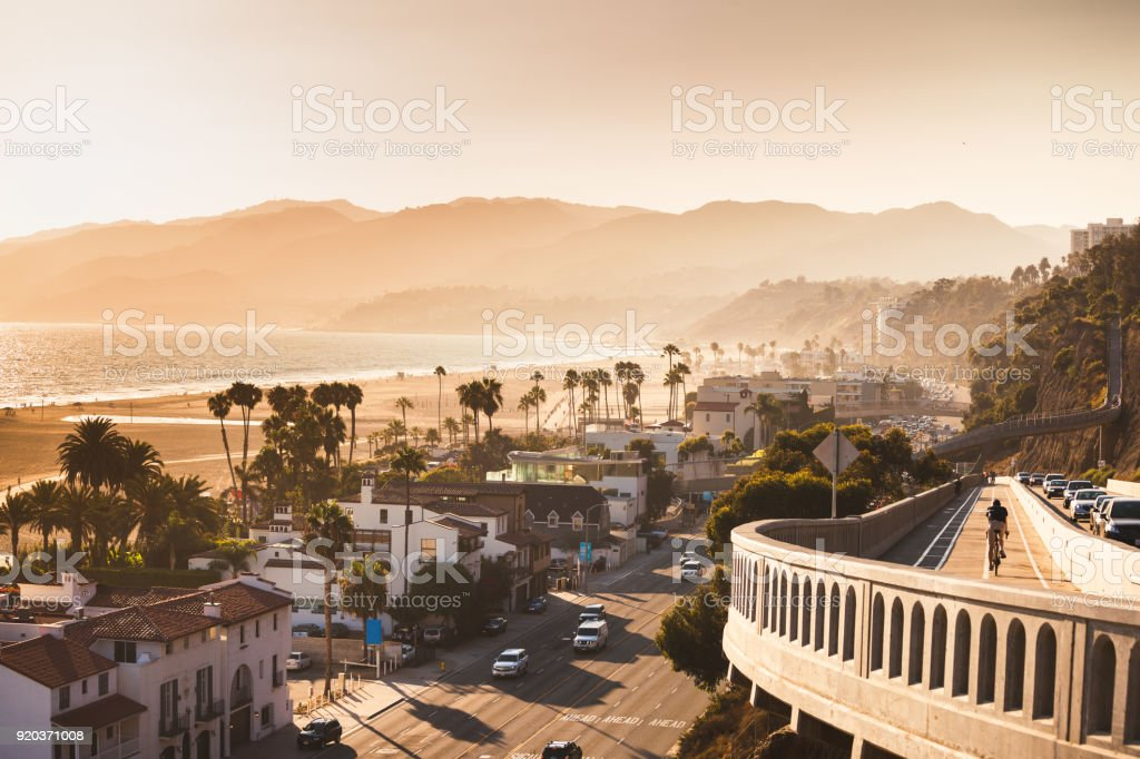 Monochrome California incline stock photo