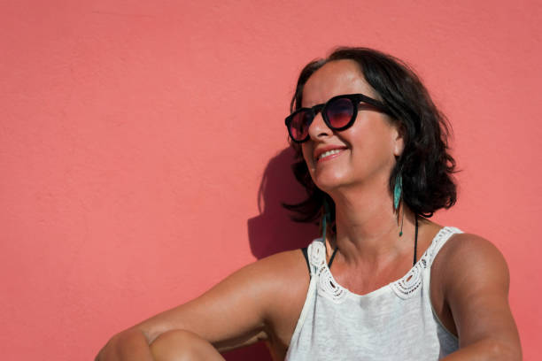 monochrome pink 5 stock photo