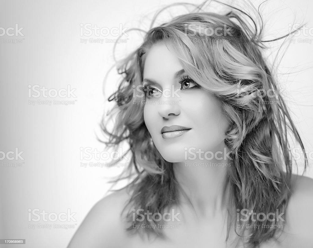 monochrome portrait stock photo