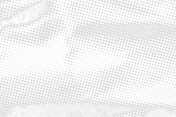 Monochrome texture background of spots halftone stock photo