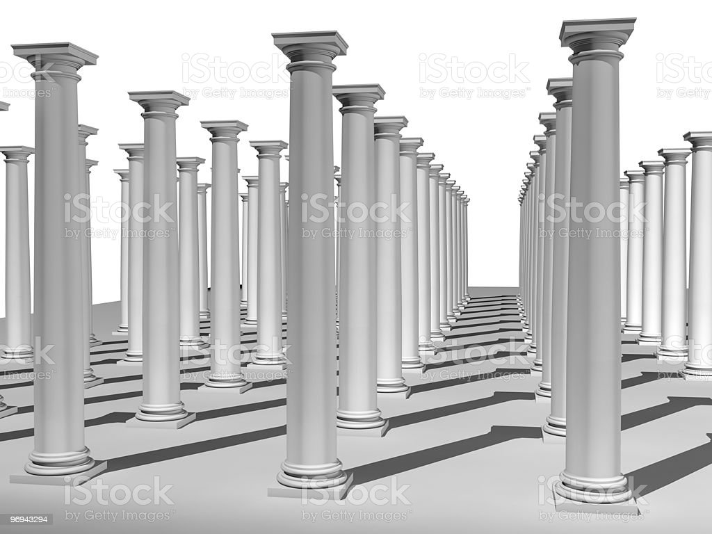 monochromic image of classic columns royalty-free stock photo