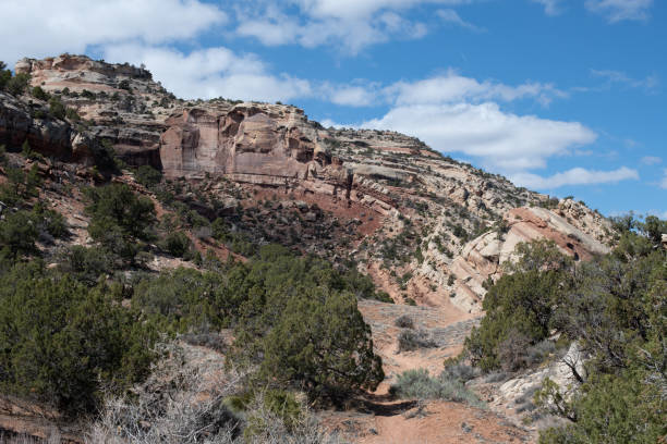 Monocline in the Colorado National Monument stock photo