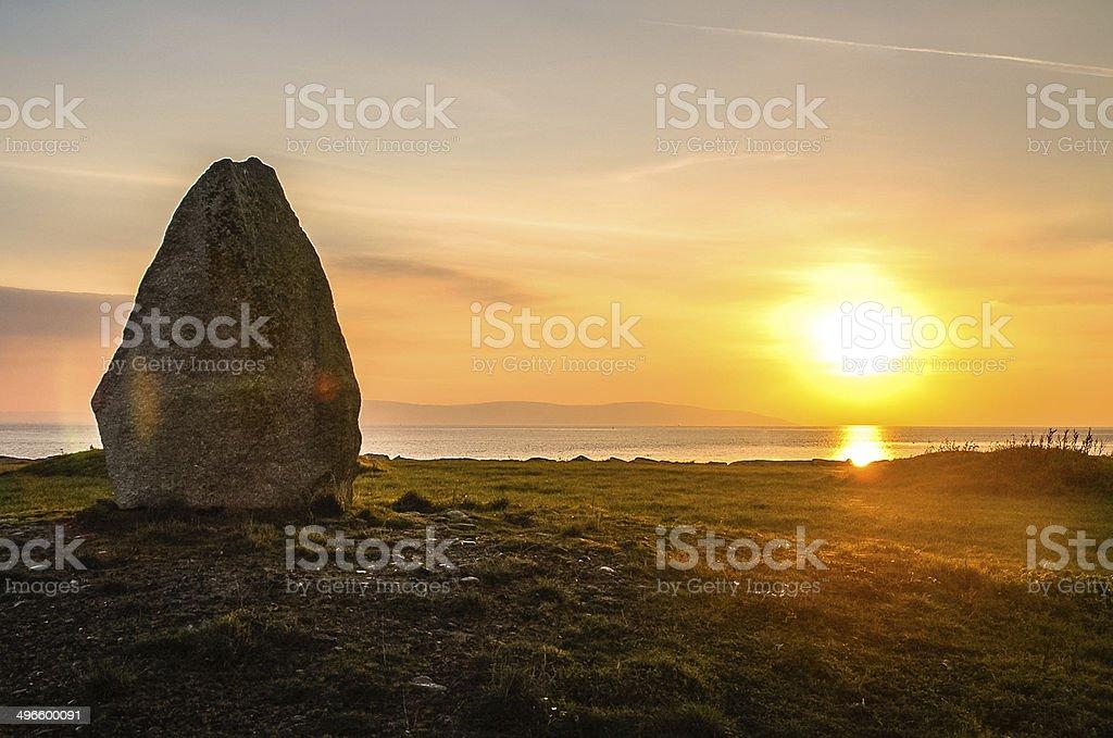 Monolith at Sunset stock photo