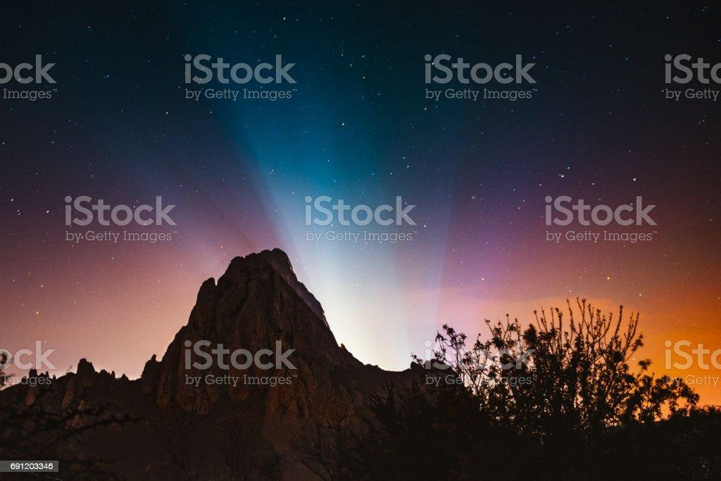 Monolith of Bernal Queretaro stock photo