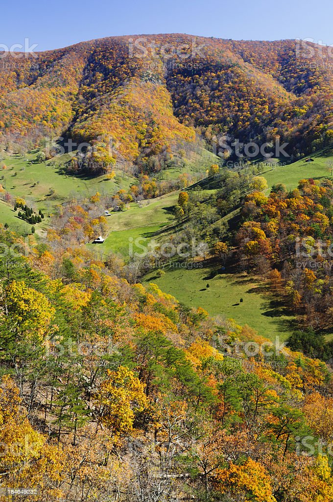 Monongohela National Forest in Autumn stock photo