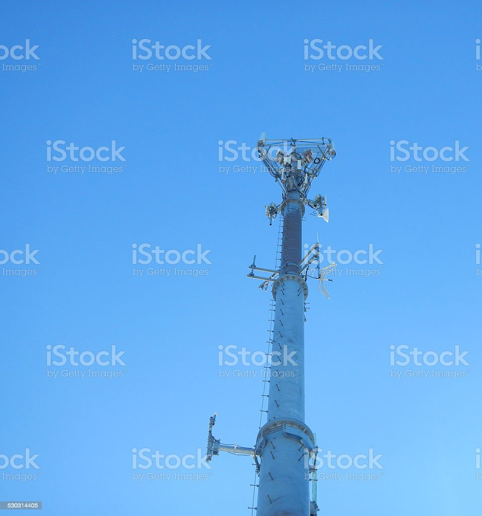 Monopole Cell Tower 1 Stock Photo - Download Image Now - iStock
