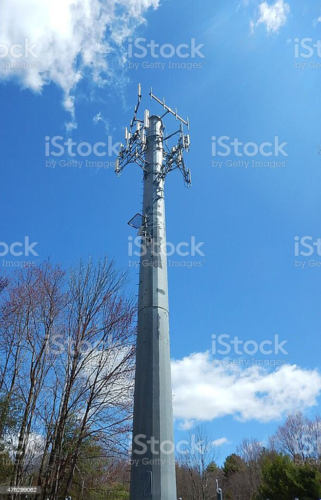 Monopole Cell Tower Stock Photo - Download Image Now - iStock