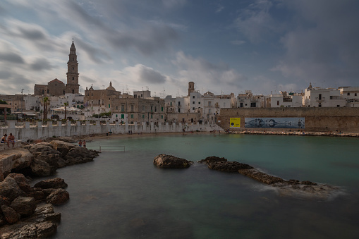 Cloudy Monopoli old town