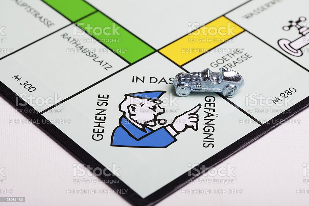 Monopoly board and money stock photo
