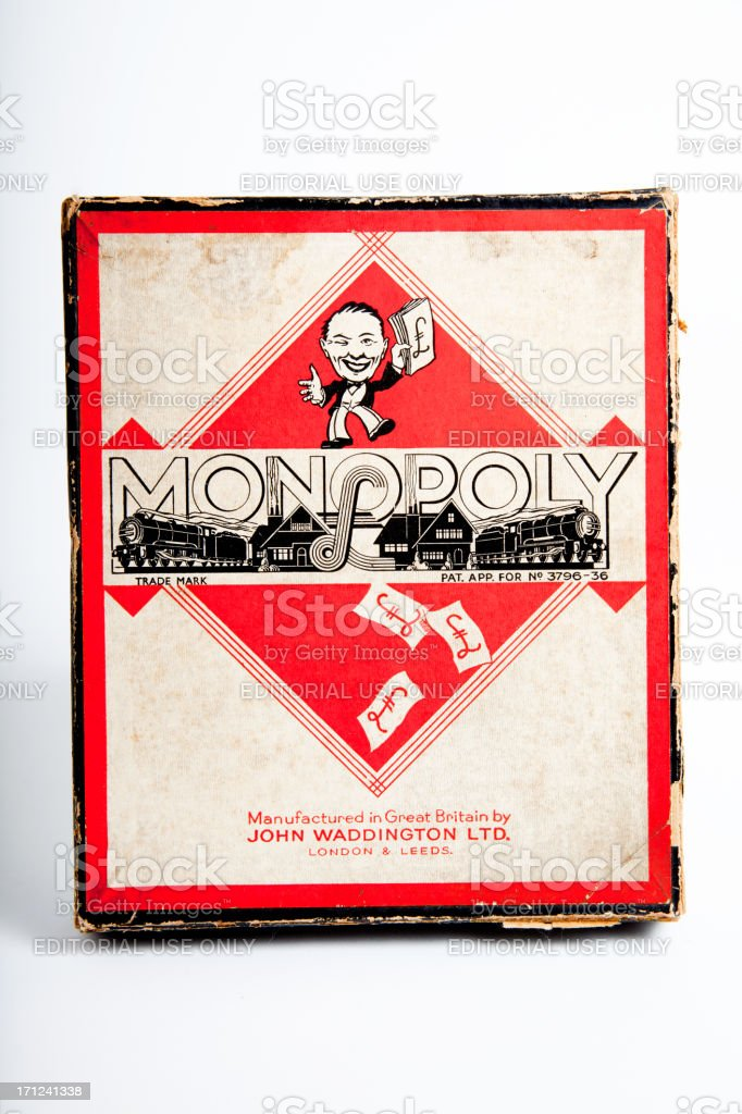 Monopoly Board Game 1937 Edition royalty-free stock photo