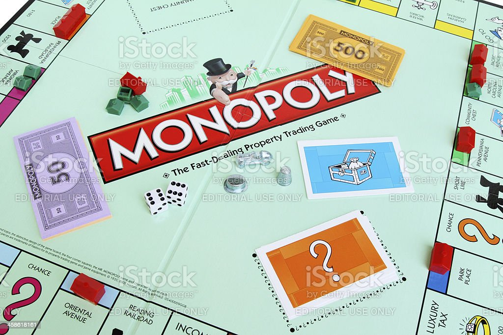 Monopoly board game stock photo