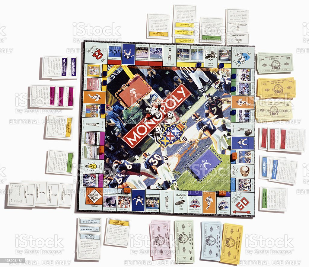 Monopoly board game royalty-free stock photo