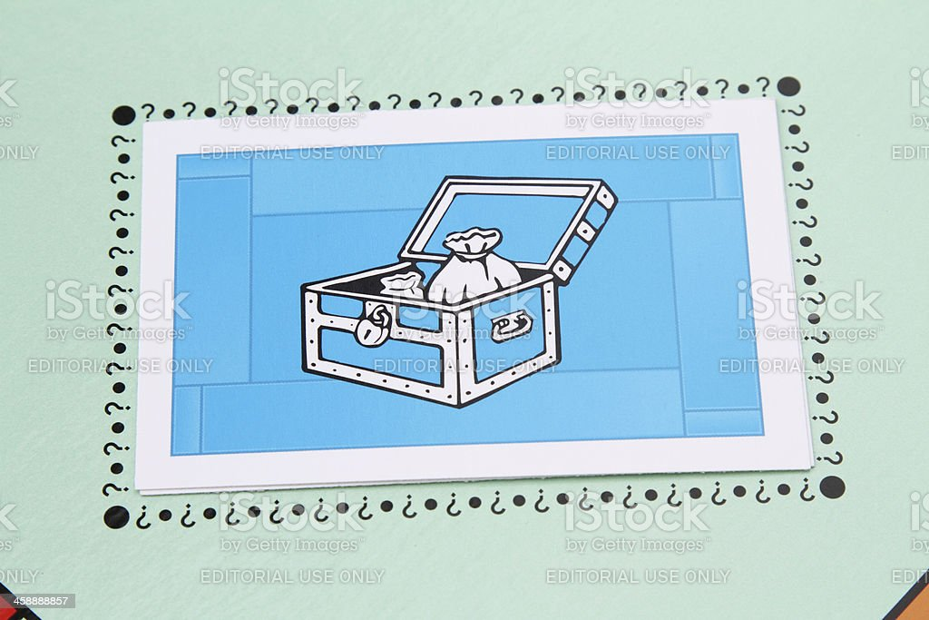 Monopoly Community Chest card royalty-free stock photo