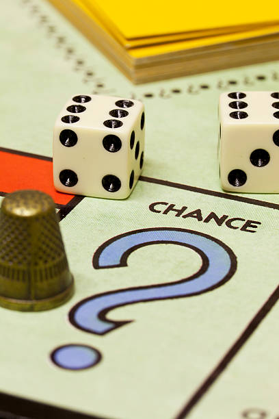Monopoly Game - Chance stock photo