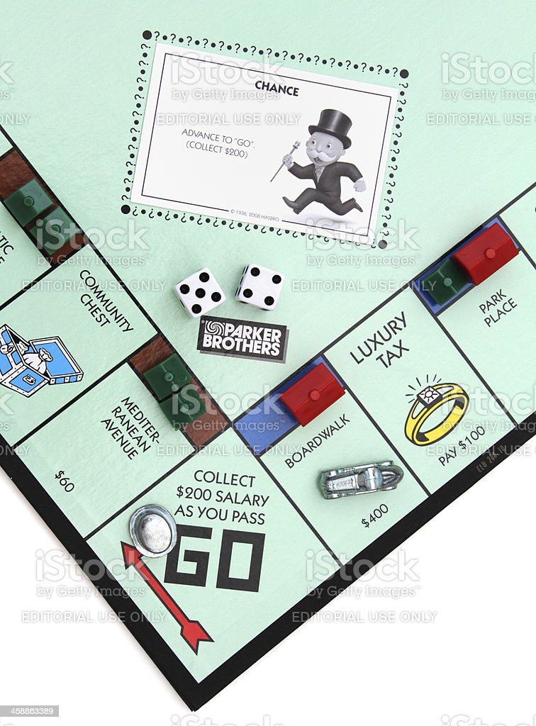 Monopoly game Go square royalty-free stock photo