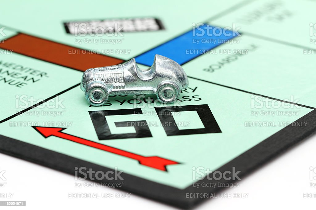 Monopoly game Go square stock photo